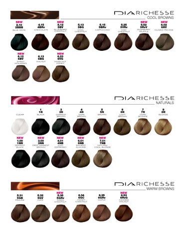 L Or 201 Al Color Chart Diarichesse Amp Dialight By Labios