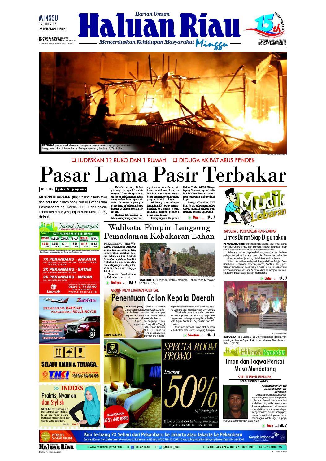 Haluanriau 2015 07 12 By Haluan Riau Issuu Krezi Kamis 17 Bantal Leher Bulu C House