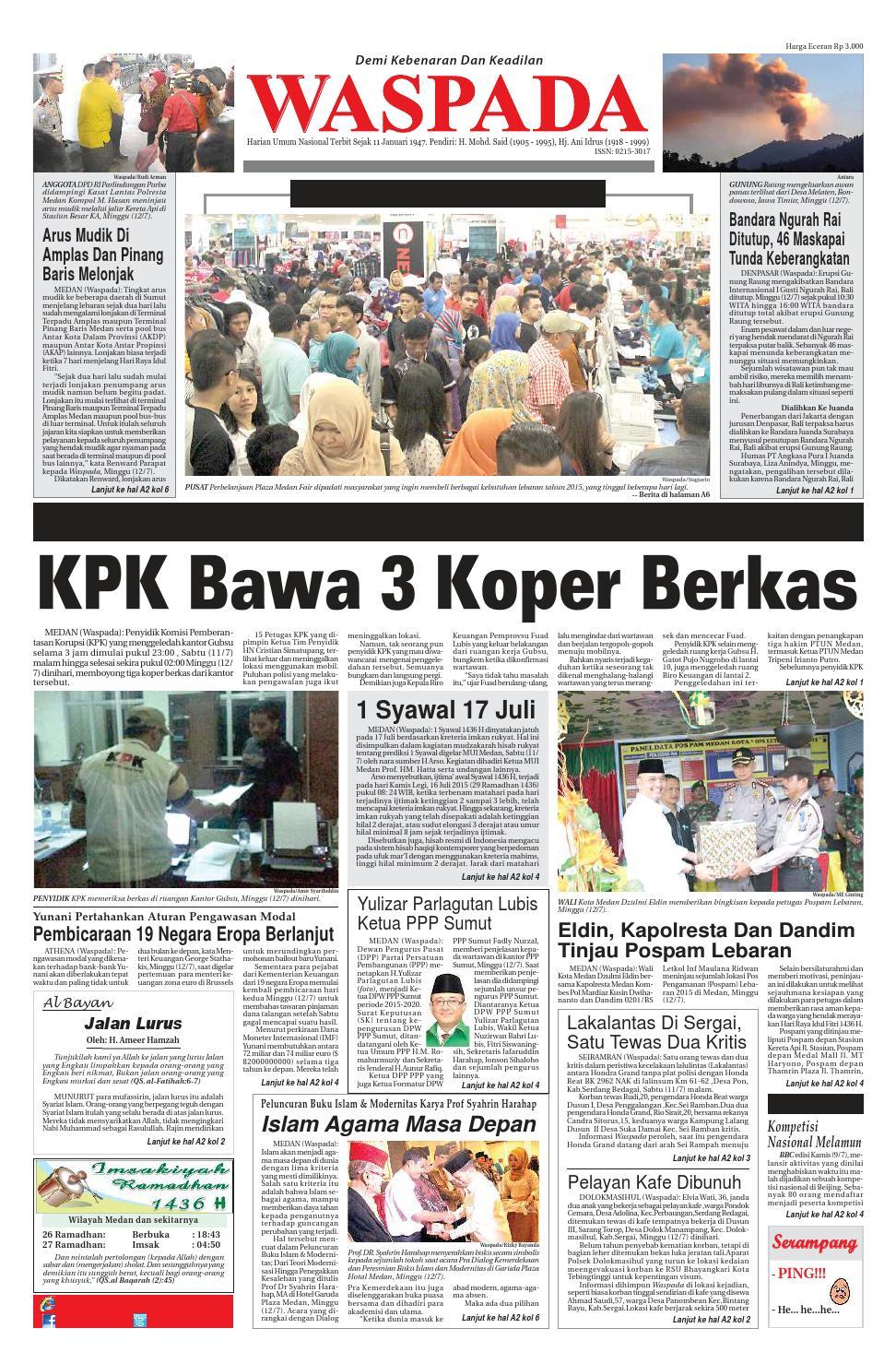 Waspada Senin 13 Juli 2015 By Harian Issuu Produk Ukm Bumn Batik Lengan Panjang Parang Toko Ngremboko