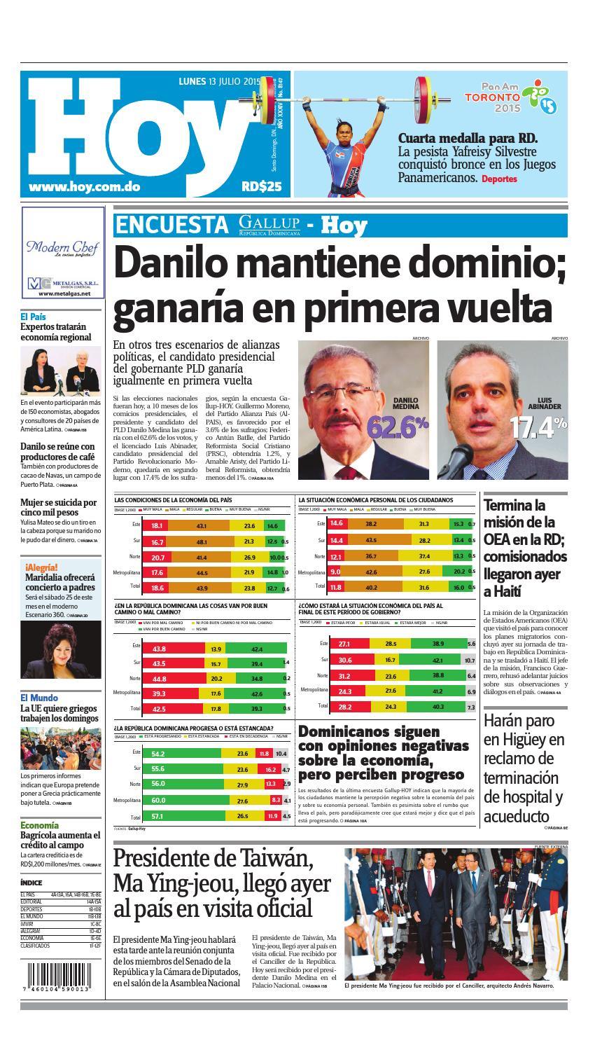 Periódico lunes 13 de julio de 2015 by Periodico Hoy - issuu 30f495b574c