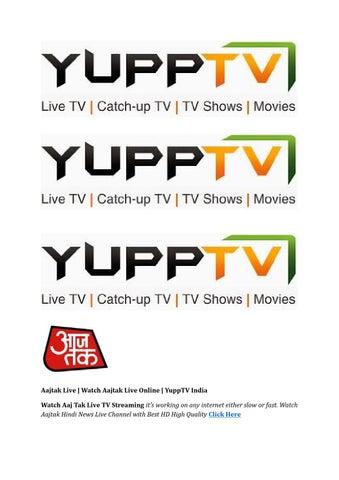 Aajtak Live | Watch Aajtak Live Online | YuppTV India by