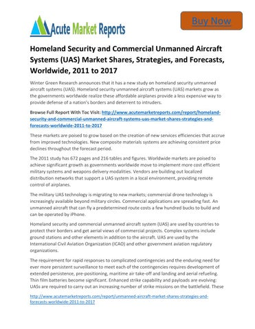 Unmanned Aircraft Systems (UAS): Manufacturing Trends