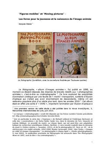 Figures Mobiles Et Moving Pictures By Libraires Associes