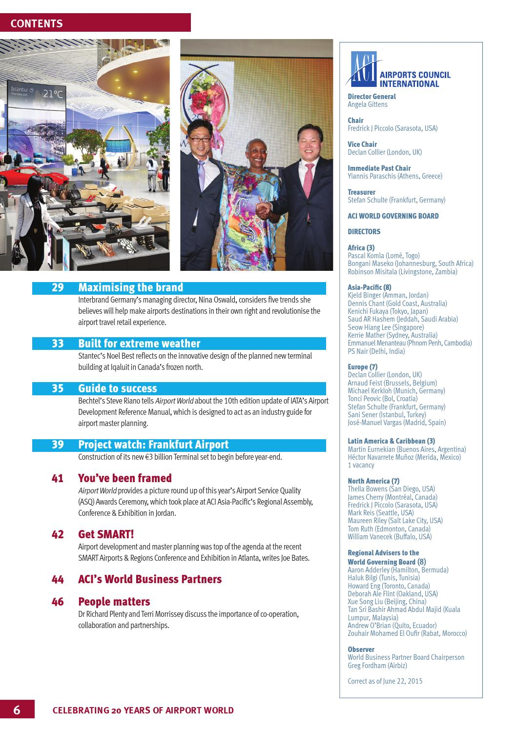 Airport World, Issue 3, 2015 by Airport World - issuu