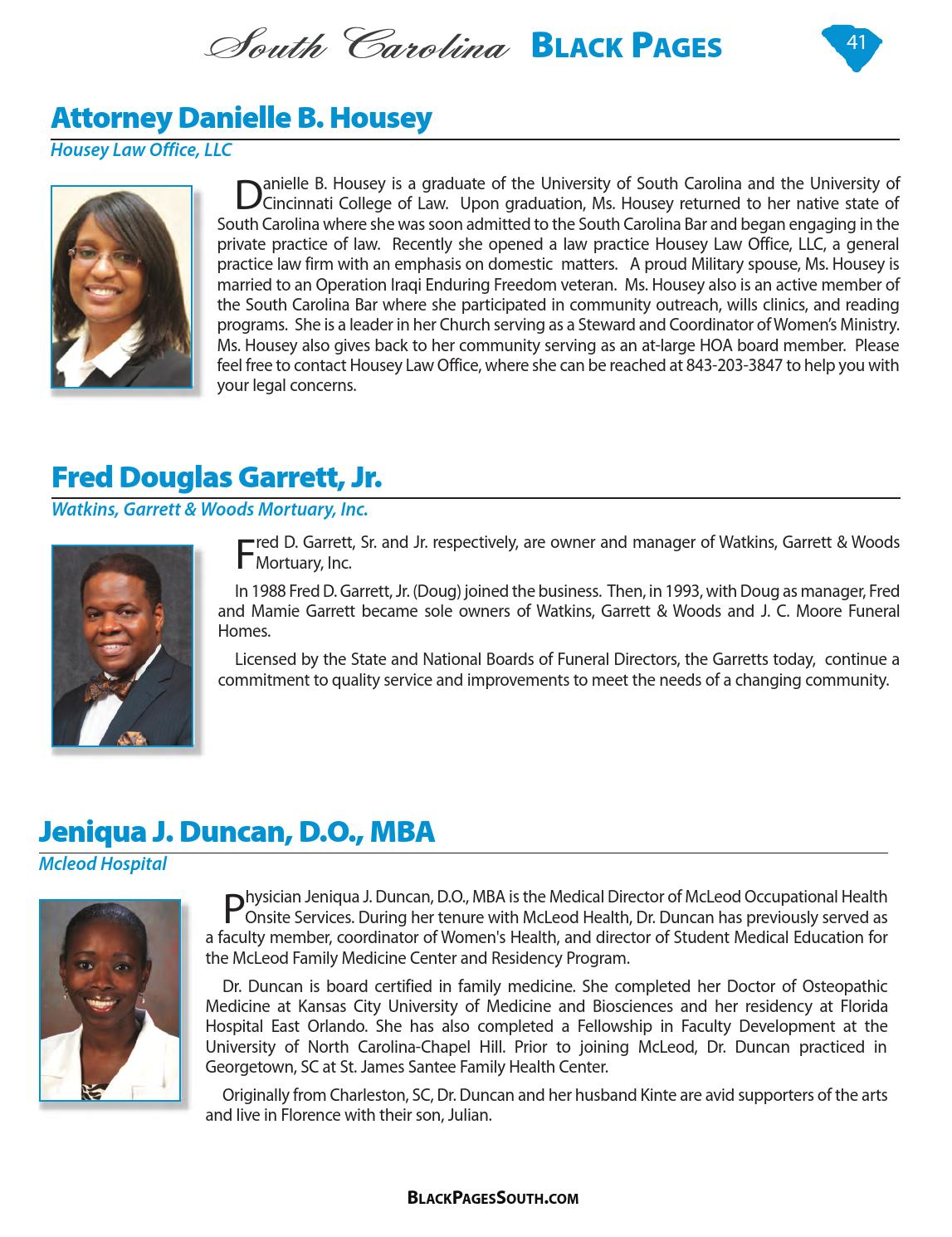 2015 South Carolina Black Pages by Black Pages USA - issuu