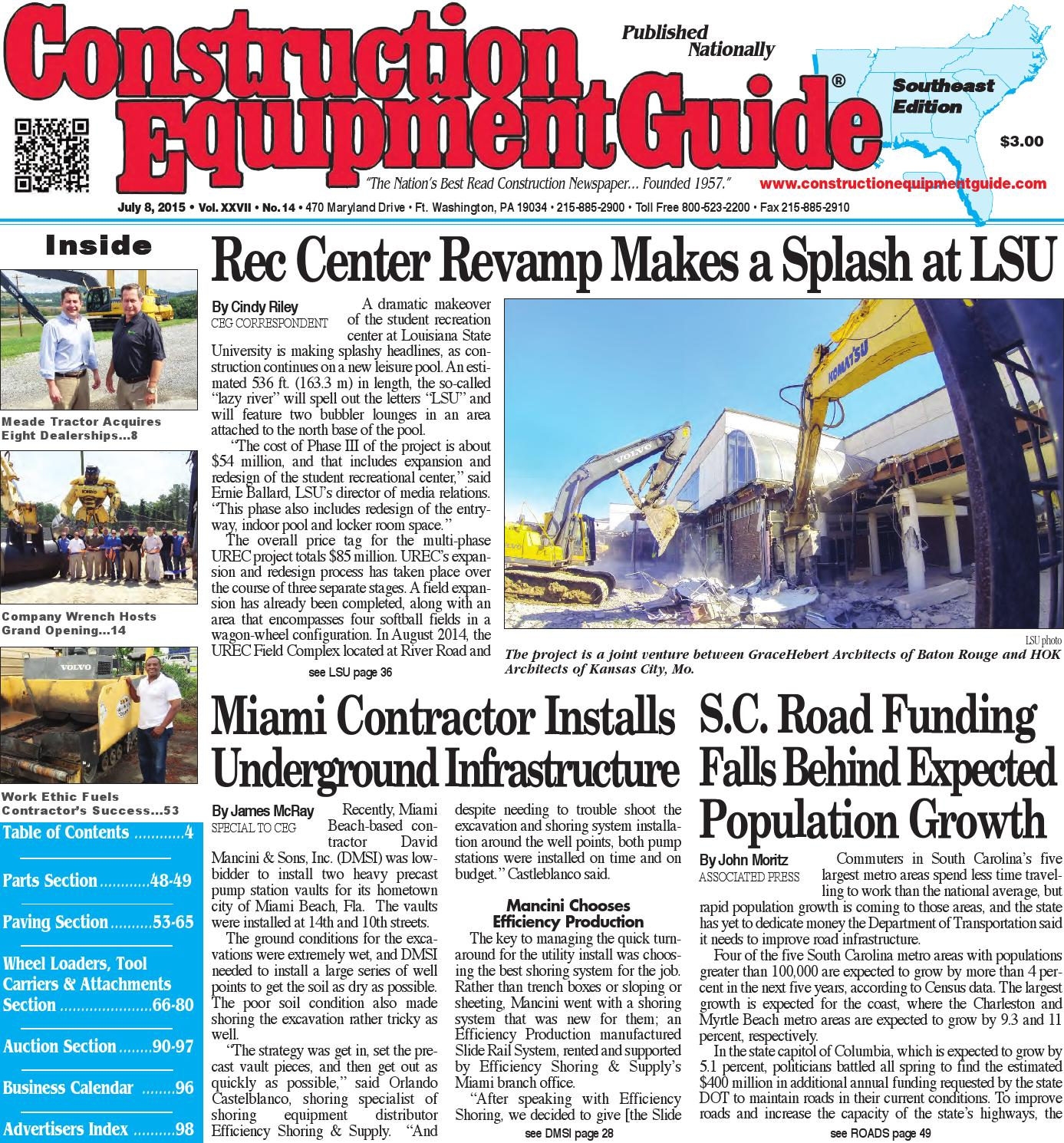 Southeast 14 2015 by Construction Equipment Guide - issuu