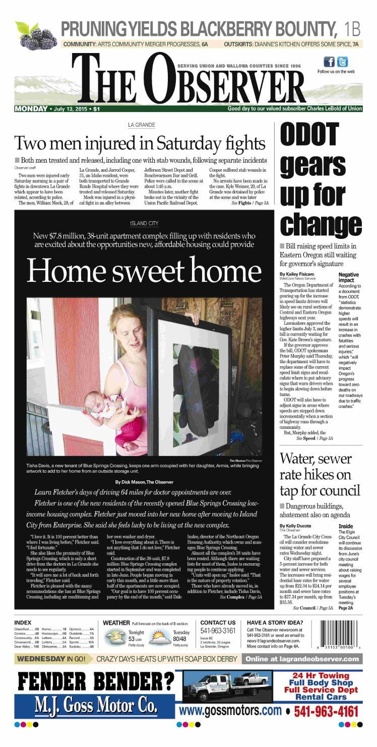 La Grande Observer Daily Paper 07 13 15