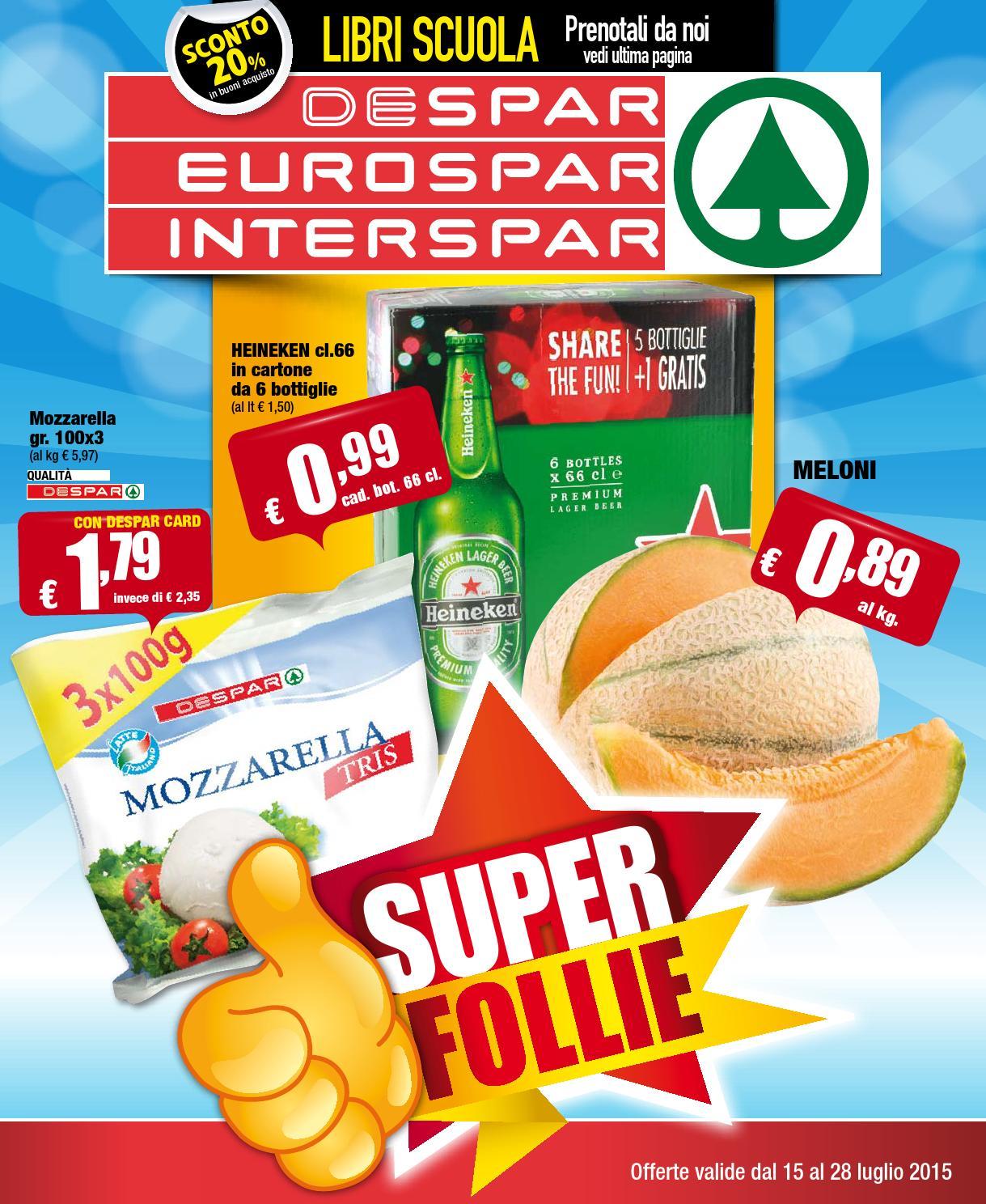 Despar eurospar interspar volantino offerte 14 2015 by for Volantino offerte despar messina
