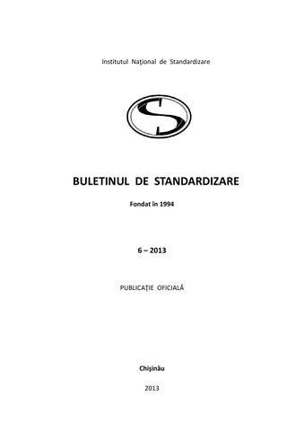 Buletin De Standardizare Iulie 2013 By Standardmd Issuu