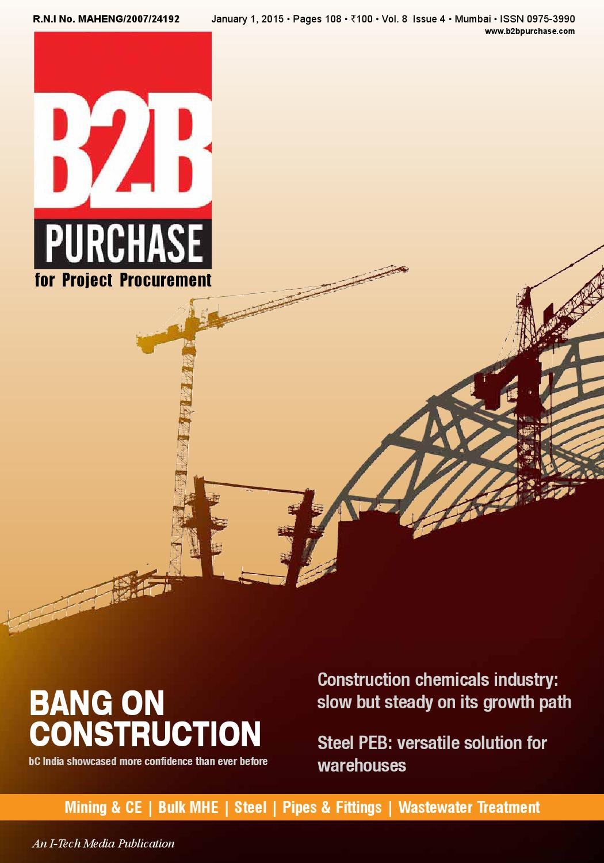 B2b Purchase January 2015 By I Tech Media Pvt Ltd Issuu Diagram Potain Tower Crane Specification Software Block Basic