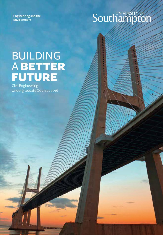 civil engineering undergraduate courses brochure 2016 by
