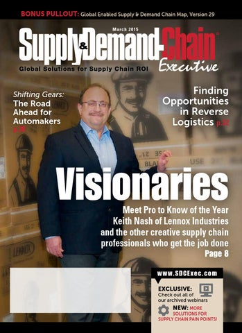Supply Demand Chain Executive March 2015 By Supplydemand Chain