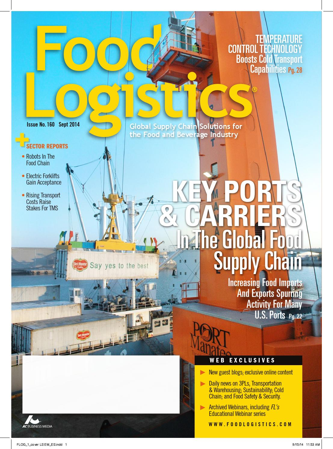 Food Logistics Sept 2014 by Supply+Demand Chain/Food