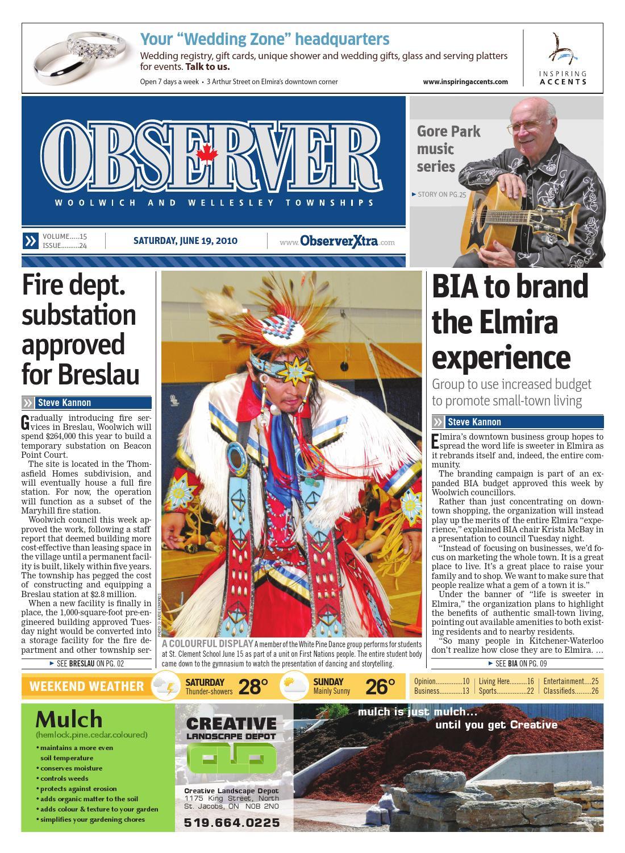 ad57bd4df948b8 June 19, 2010 by Woolwich Observer - issuu