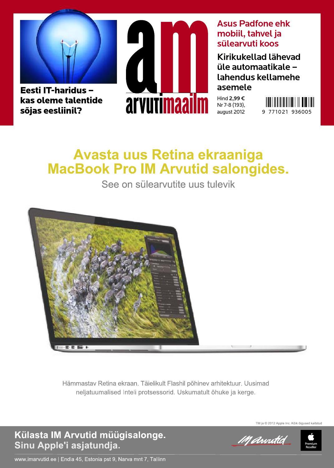 327999544fa Arvutimaailm 7-8/12 by Arvutimaailm - issuu