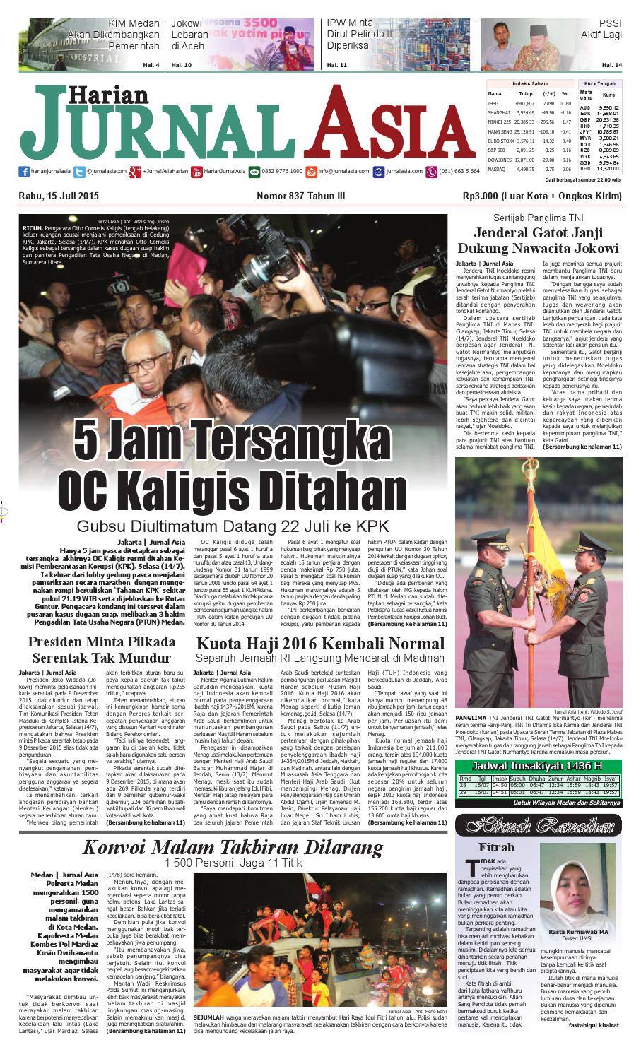 Harian Jurnal Asia Edisi Rabu 15 Juli 2015 By Produk Ukm Paul Aksesories Id Card Leather Kartu Pengenal Kulit Warna Tan Medan Issuu