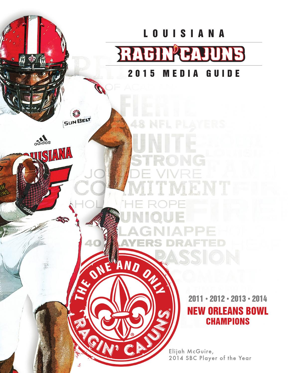 Discount 2015 Louisiana Ragin' Cajuns Football Media Guide by Ragin' Cajuns  for sale