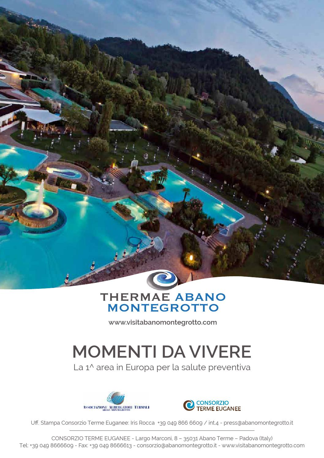 Spa Montegrotto Terme Sauna Finlandese: Cartella Stampa Thermae Abano Montegrotto By Consorzio