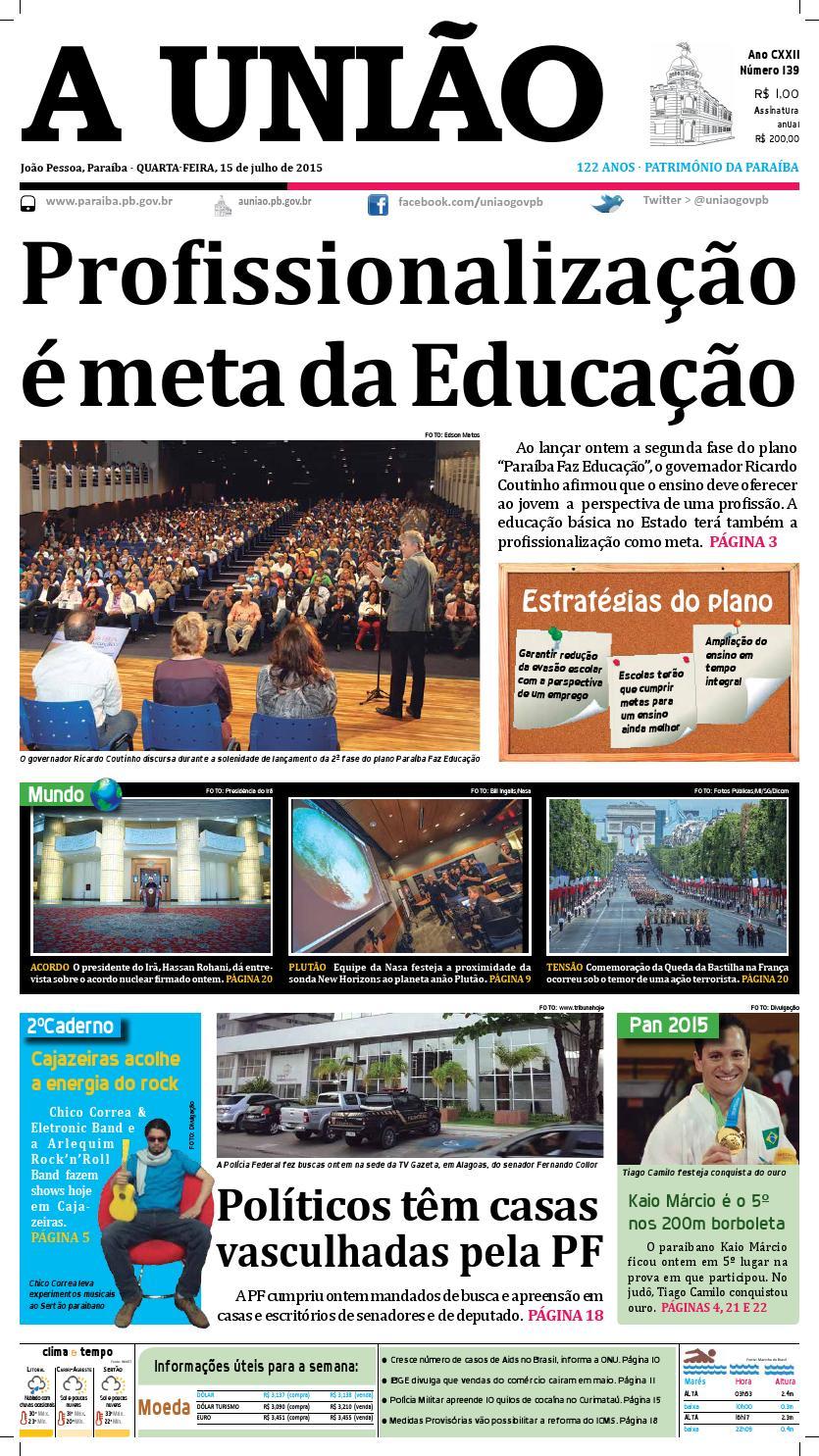 Jornal A União - 15 07 2015 by Jornal A União - issuu 0e7600919ce1b