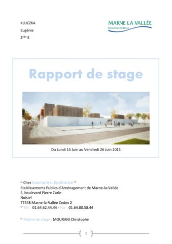 Rapport De Stage Epa By Laure Kluczka Issuu