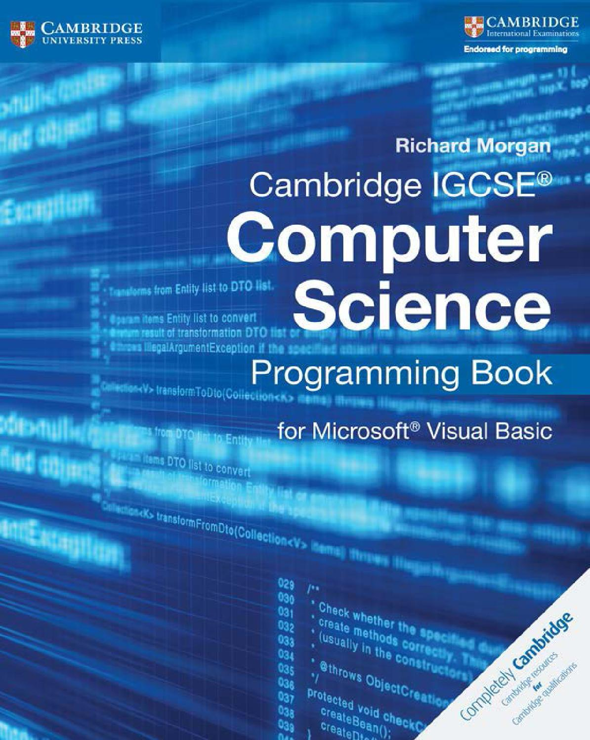 Preview Cambridge IGCSE® Computer Science: Programming Book