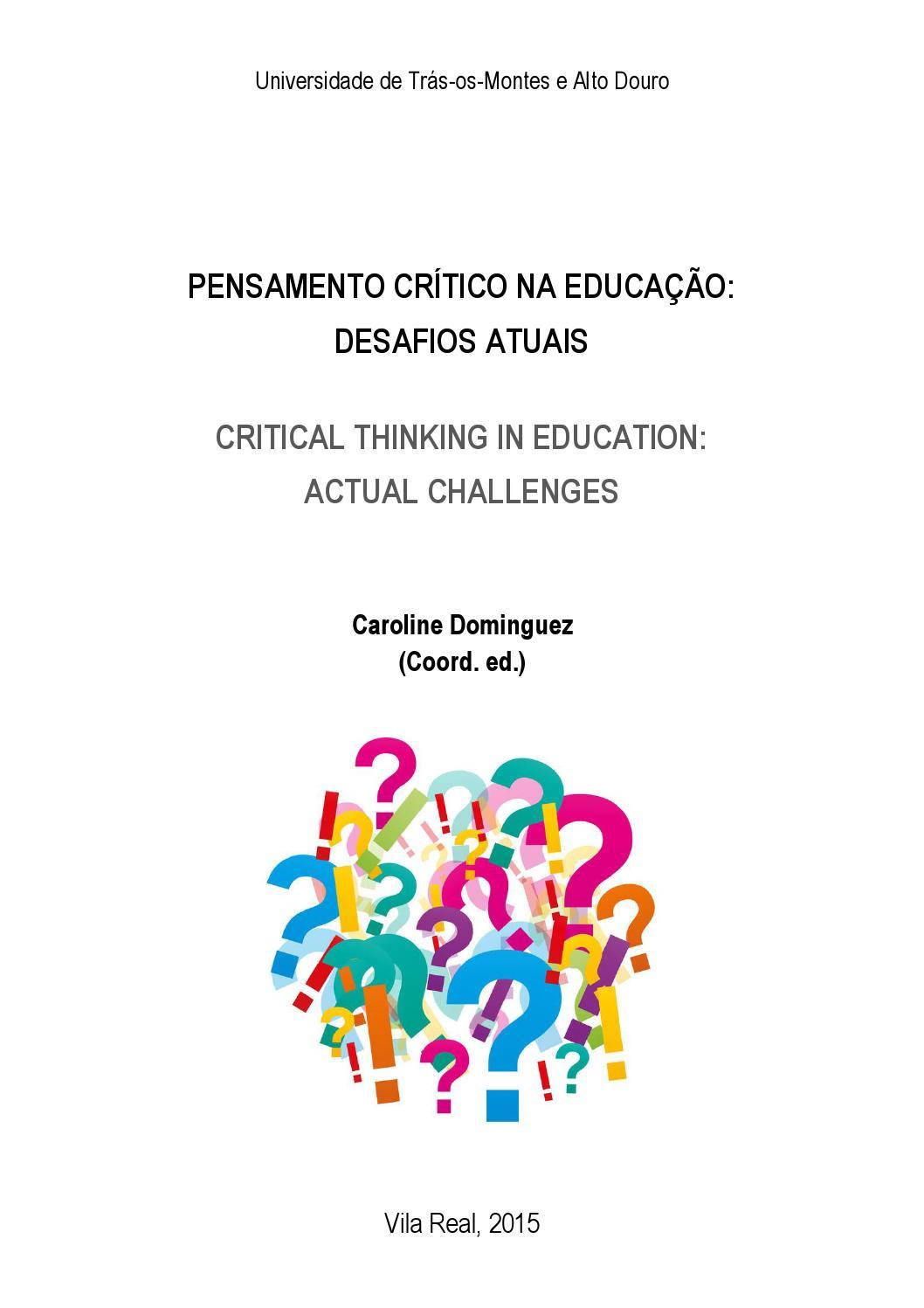 Pensamento crtico na educao desafios atuais 2015 by gonalo pensamento crtico na educao desafios atuais 2015 by gonalo cruz matos issuu fandeluxe Image collections