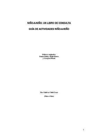 Guías de actividades niño a niño by animados - issuu