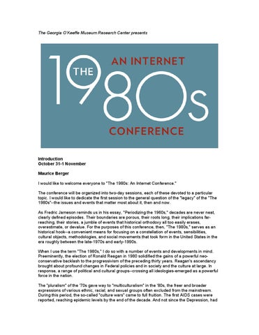 1980s An Internet Conference By Georgia Okeeffe Museum Research