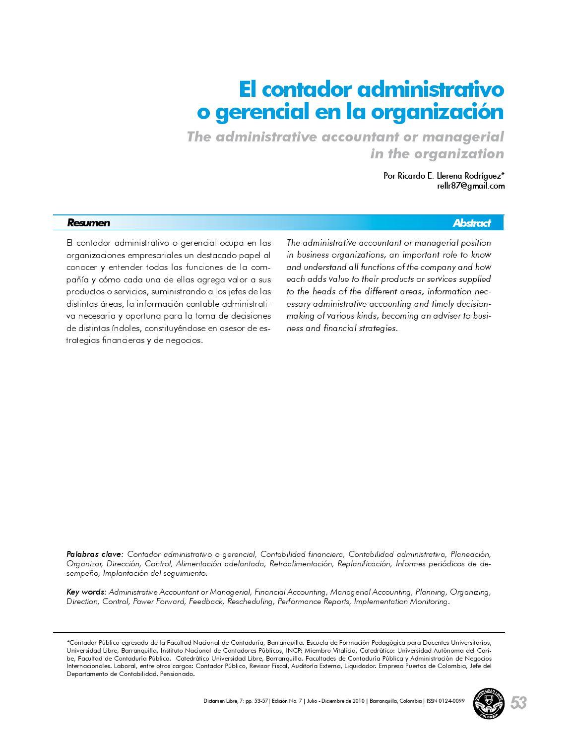 Papel del contador admon (1) (1) by Clodomiro Torres - issuu