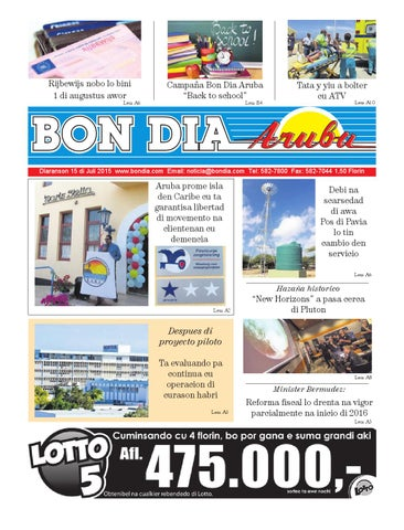 2a4073cdb BON DIA ARUBA NOTICIA 15 JULI 2015 by Bon Dia Aruba - issuu
