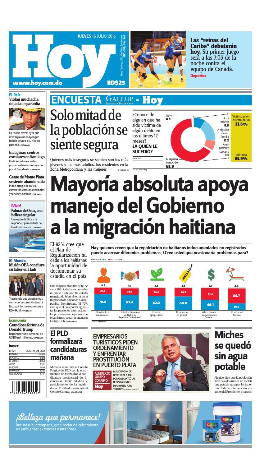 the best attitude 584cc ba092 Periódico jueves 16 de julio, 2015 by Periodico Hoy - issuu