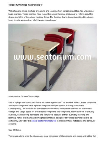 College Furnishings Manufacturers To Rethink About The Style And Amazing School Furniture Manufacturers Style