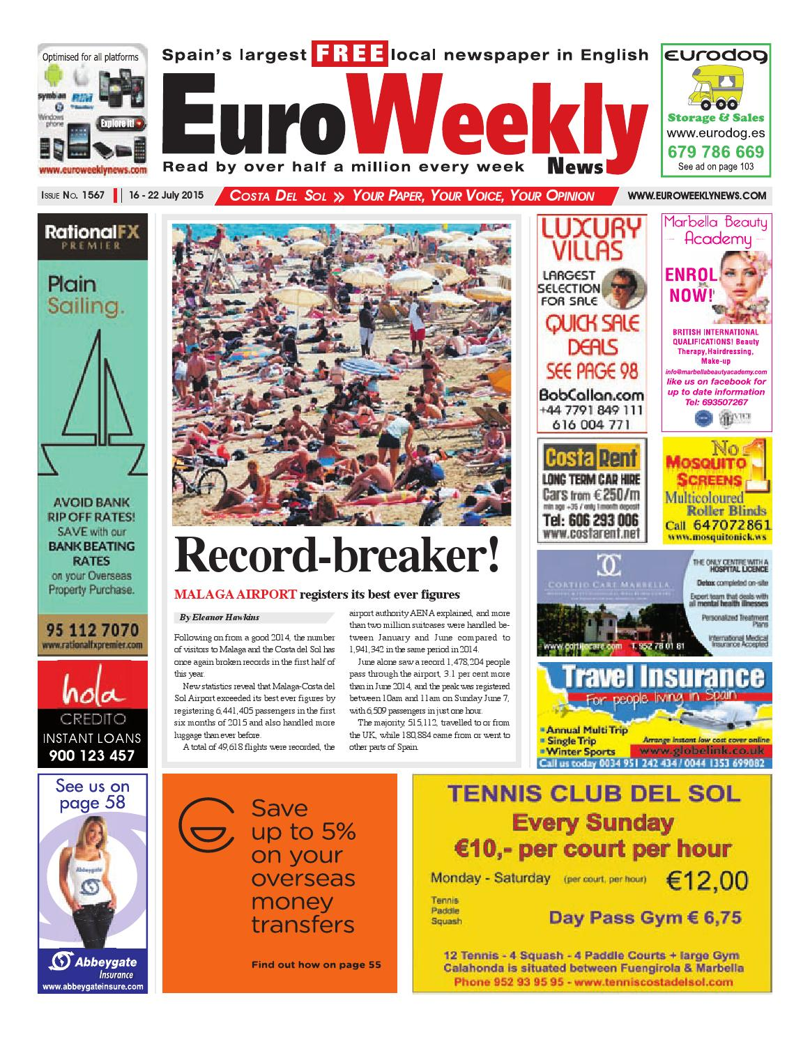 Euro Weekly News - Costa del Sol 16 - 22 July 2015 Issue 1567 by ... 7a82a669eca