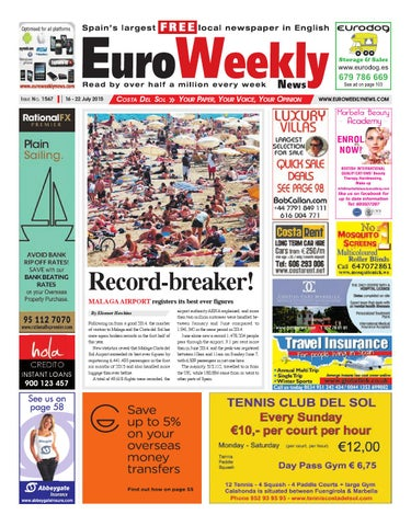 d6ea67ec92e3e Euro Weekly News - Costa del Sol 16 - 22 July 2015 Issue 1567 by ...