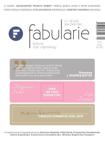 05f812d7860ef Fabularie 1/2015 by Fabularie - issuu