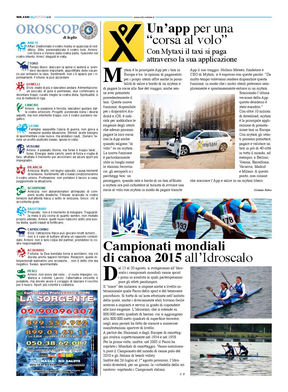 Milano city notizie 2015 by calogero urruso issuu - In volo gemelli diversi ...