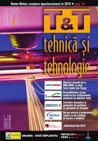 revista t t tehnica si tehnologie nr 3 2015 by tehnic media issuu