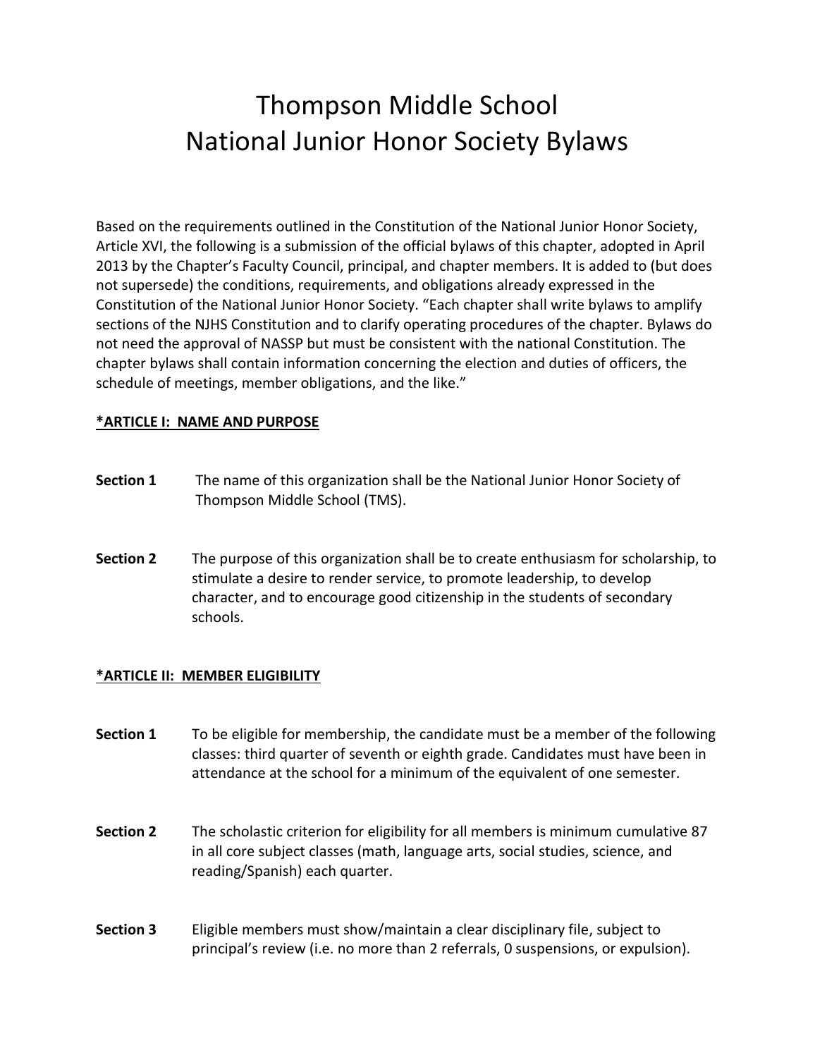 National Junior Honor Society application essay | Behavior Modification | Cognition