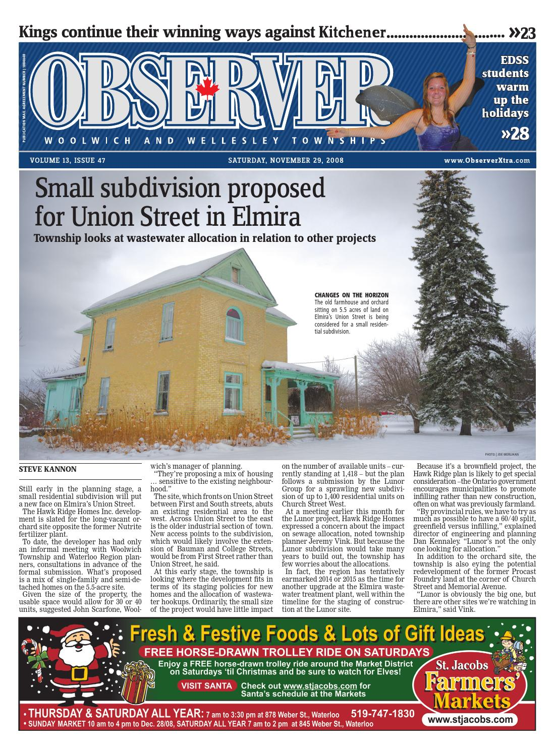 November 29, 2008 by Woolwich Observer - issuu