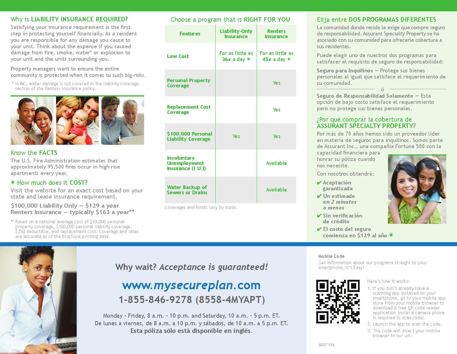 Venterra Assurant Renters Insurance Flyer by Venterra ...