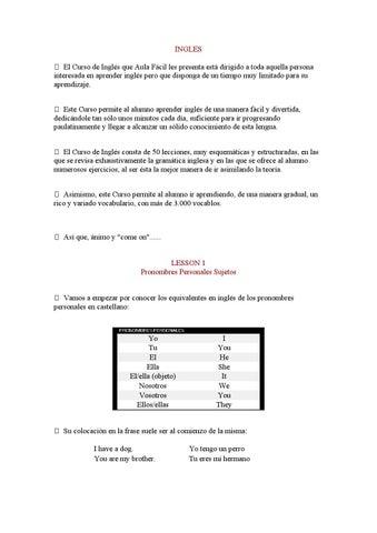 Pronombres personales sujetos by Dyego Mora de Alvaro - issuu