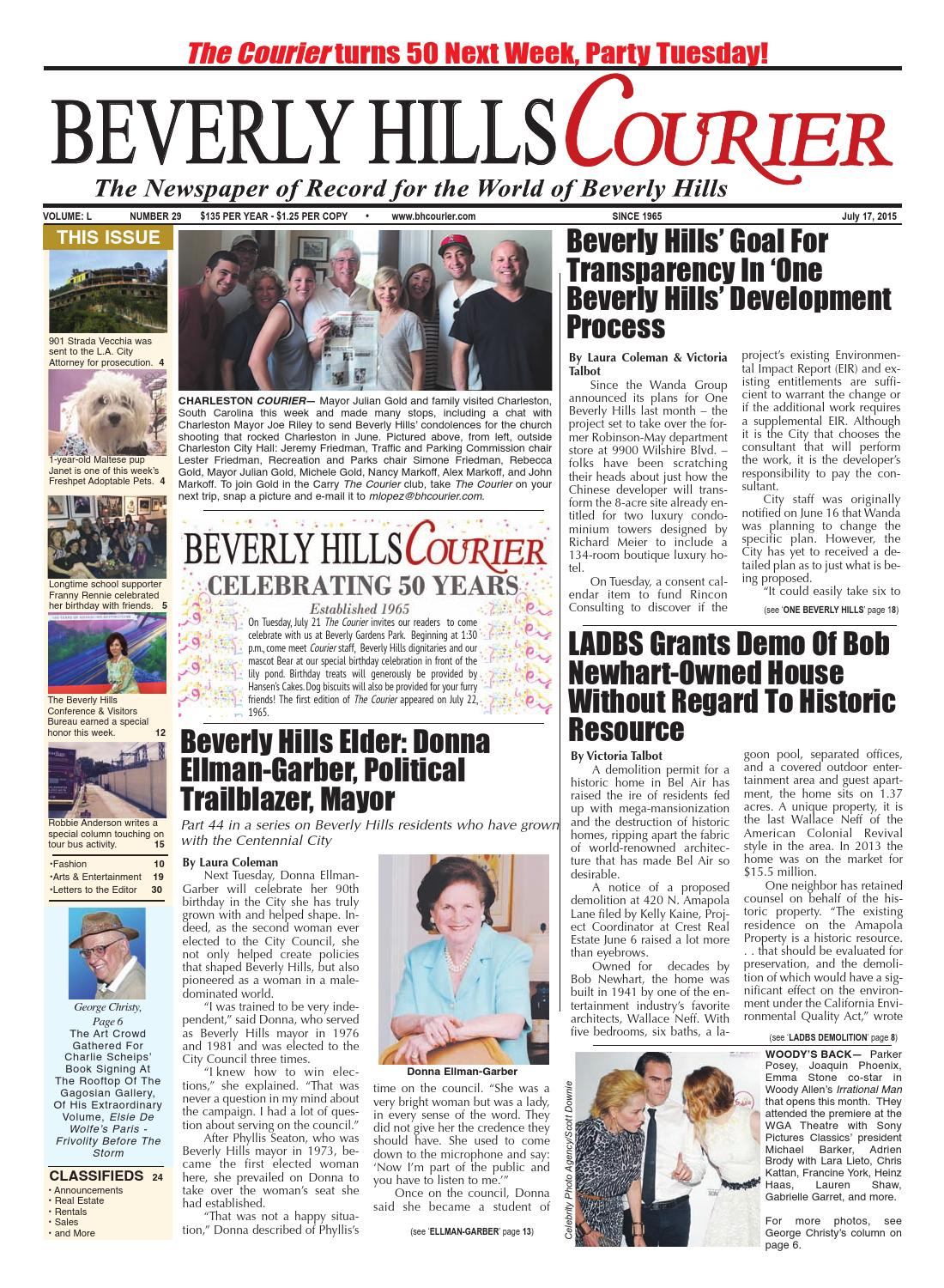 BHCourier071715 E-edition by The Beverly Hills Courier - issuu