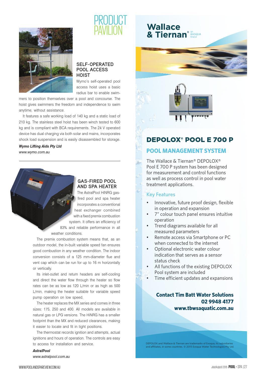 Pool+Spa July/Aug 2015 by Westwick-Farrow Media - issuu