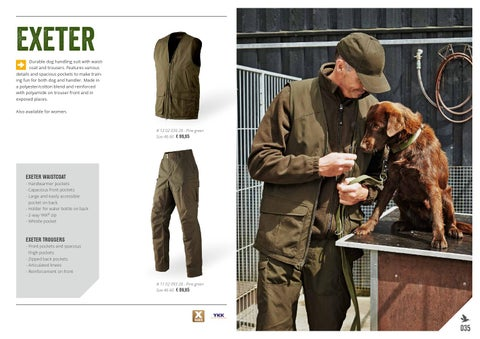 cc49fa7b16557 Exeter Durable dog handling suit with waistcoat and trousers. Features  various details and spacious pockets to make training fun for both dog and  handler.