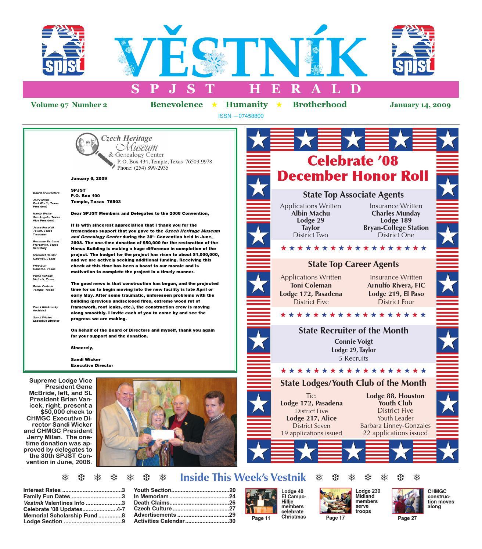 Vestnik 2009 01 14 by SPJST issuu