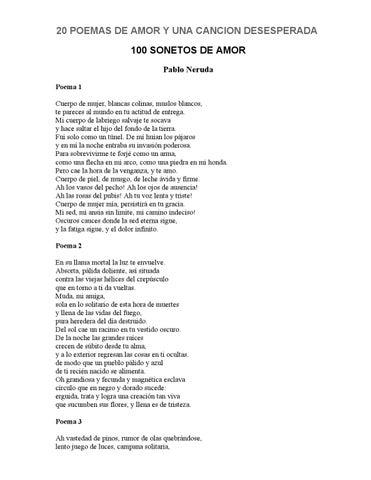 Pablo Neruda 20 Poemas De Amor By Aristides Jalca Cabañas