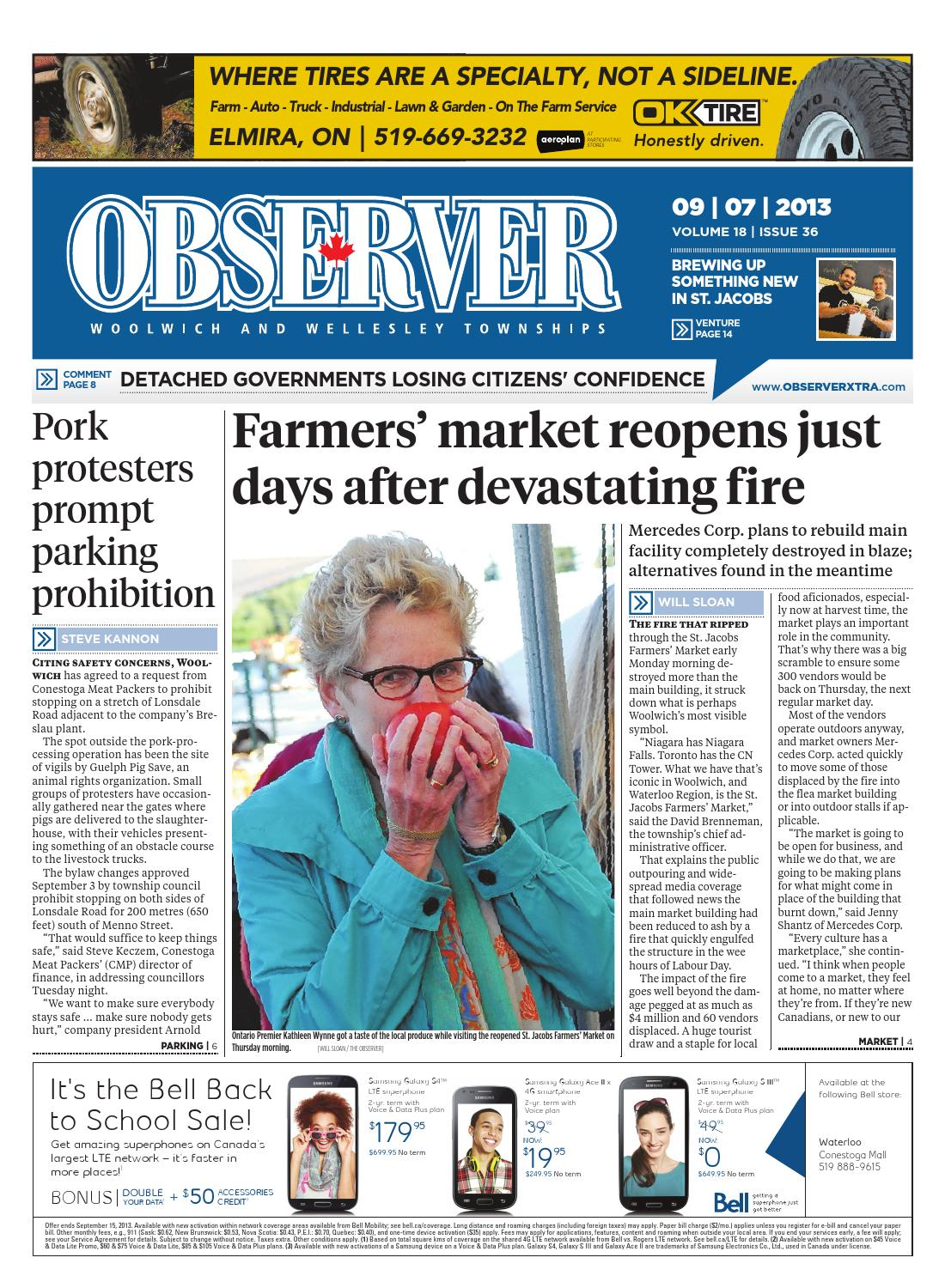 Observer september 7, 2013 by Woolwich Observer - issuu