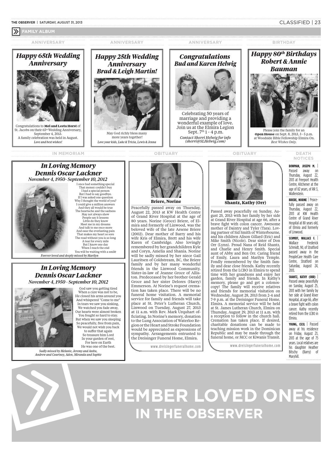 Observer august31, 2013 by Woolwich Observer - issuu