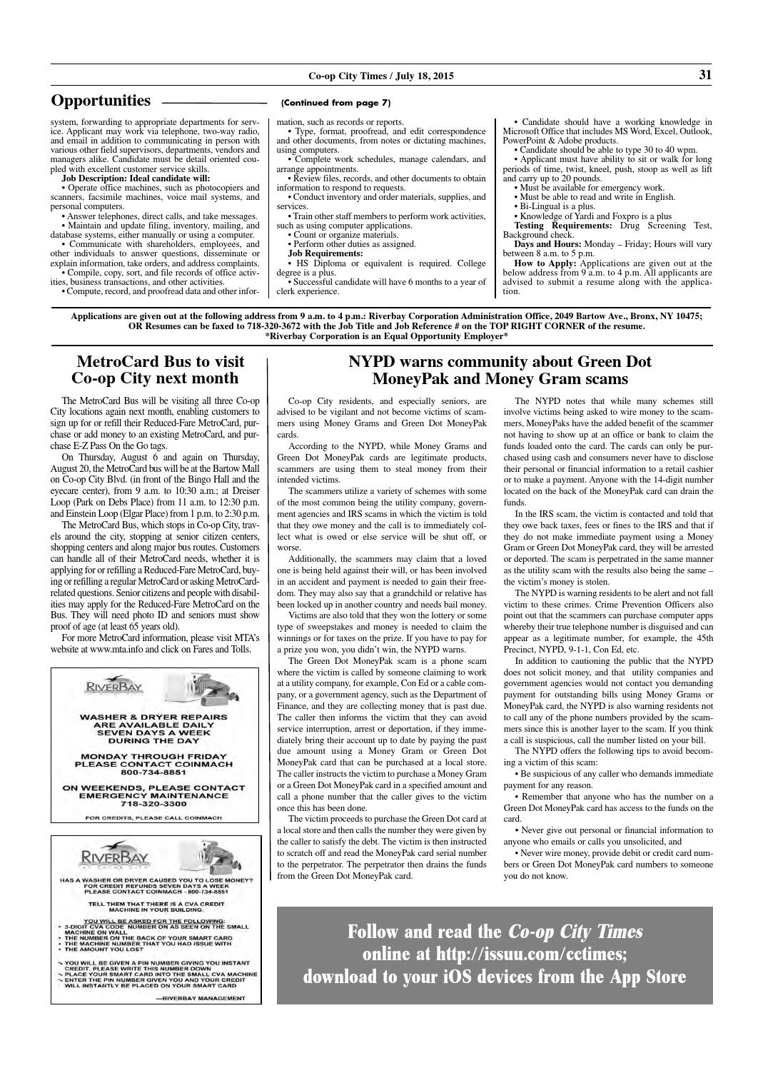 Co-op City Times 07/18/15 by Co-op City Times - issuu