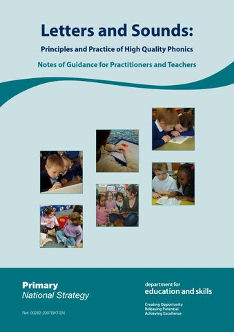 letters and sounds principles and practice of high quality phonics notes of guidance for practitioners and teachers